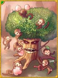 サルはかわいいんですが木が・・・